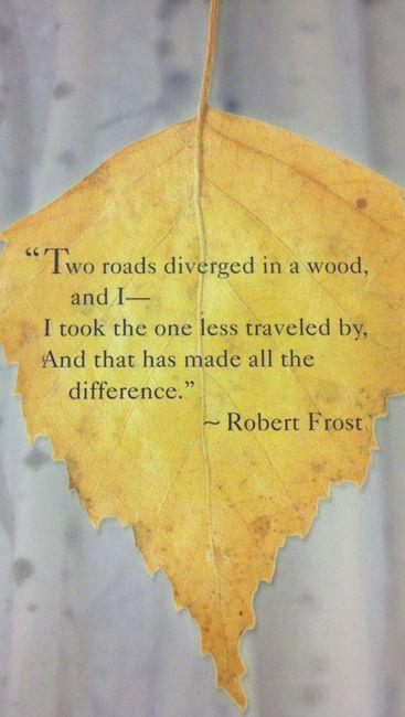 To My Fifth Grade Teacher: Two Roads Diverged in a Yellow ...